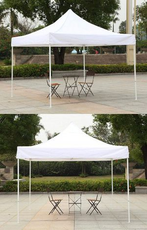 New $90 Heavty-Duty 10x10 FT Outdoor Ez Pop Up Canopy Party Tent Instant Shades w/ Carry Bag (White) for Sale in Whittier, CA