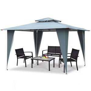11.5ft x 11.5ft Steel Gazebo Canopy Awning (shipping only) for Sale in Addison, TX