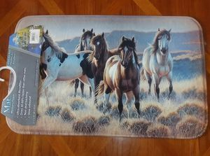 Wild Horses Running through Field Memory Foam Mat - Brand New!! for Sale in Auburn, WA