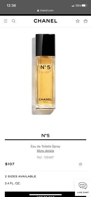 N°5 Chanel Perfume for Sale in Seattle, WA