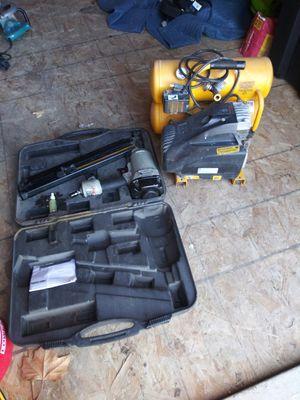 dewalt compressor and framing nail gun for Sale in Kearns, UT