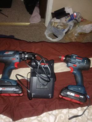 Brand New Bosch impact drill and drill 2 batteries and battery charger for Sale in Pueblo, CO