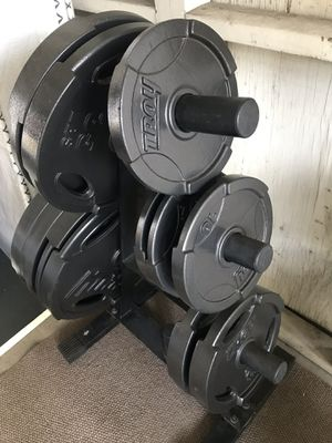 TROY Olympic calibrated barbell weight plate set. for Sale in Rosemead, CA