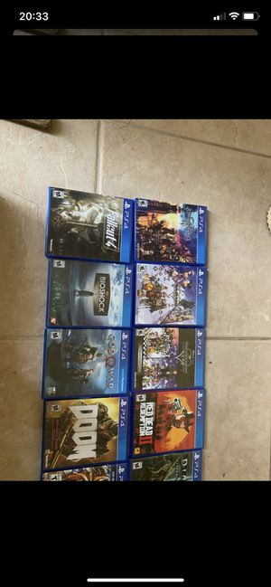 Ps4 game lot for Sale in FL, US