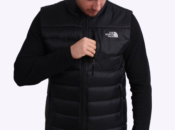 Like New - North Face® Apex Bionic Full Zip Men's Thermal Vest, Black, Medium. White North Face® Logos on Front/Back, and on All Zippers/Pulls