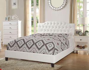 """White Queen Bed w/12"""" Mattress Financiamiento con Matrícula y ITIN for Sale in Anaheim, CA"""