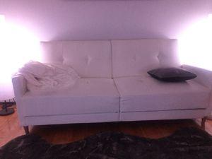 white leather Futon for Sale in Clawson, MI