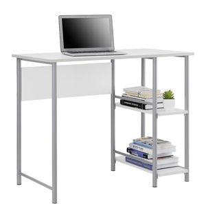 Small white/silver study desk for Sale in Manassas, VA