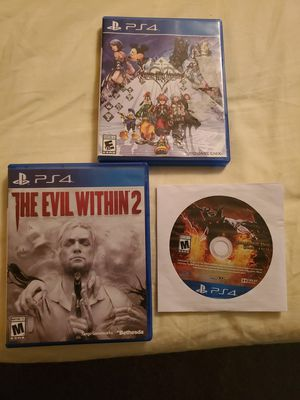 Ps4 games. Evil within 2, Dragon Dogma, Kingdom Hearts 2.8 for Sale in Boston, MA