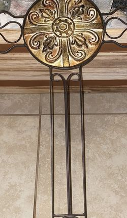 "Large Decorative Carved Cross Dark Finish For Wall Hanging 23"" for Sale in Spartanburg,  SC"