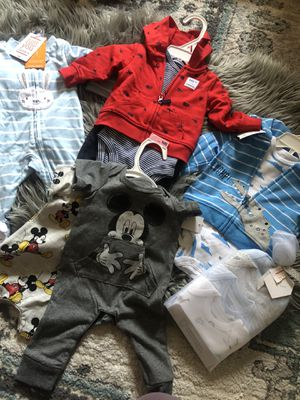 Super cute newborn clothes and diapers for Sale in Salt Lake City, UT