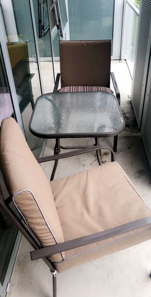 Balcony table and two chairs for Sale in Washington, DC