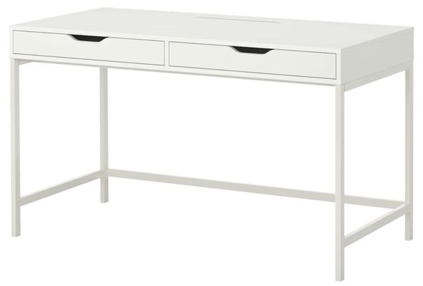 White Ikea desk, assembled, perfect condition
