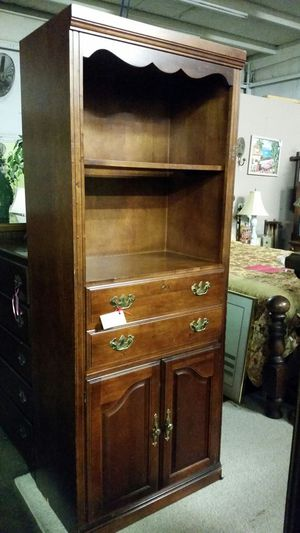 Solid wood file cabinet with shelves and storage for Sale in Rome, GA