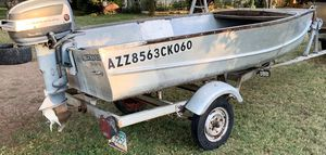 Aluminum Boat & Trailer with Evinrude Motor for Sale in Phoenix, AZ