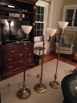 3 Brass Floor Lamps for Sale in Baltimore, MD