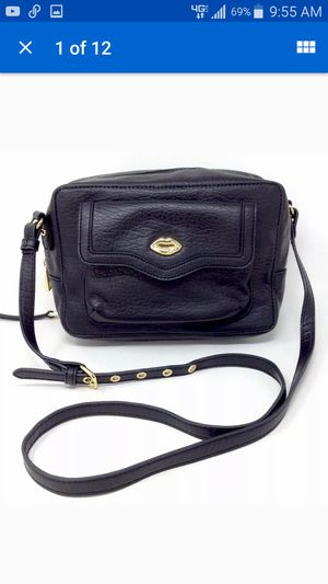 Juicy Couture Leather Crossbody Women's Small/Medium Black Hobo Messenger Shoulder Bag Purse for Sale in Huntington Beach, CA