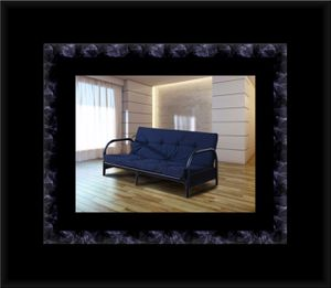 Black futon frame with mattress for Sale in Arlington, VA