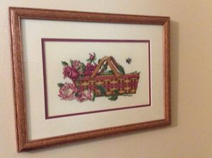 Cross stitched Longaberger Basket picture for Sale in Louisville, KY