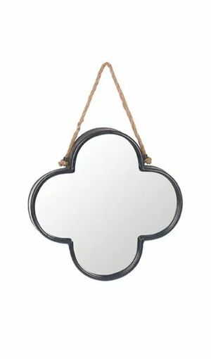 Clover Shaped Metal Wall Mirror for Sale in Island Lake, IL