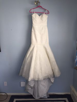 Wedding Dress + flower Girl dress and veils set for Sale in Los Angeles, CA