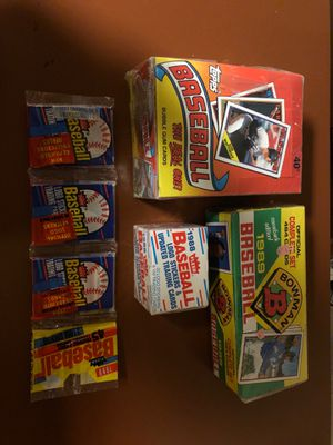 Baseball cards new in box never opened 1988 and 1989 for Sale in Norristown, PA