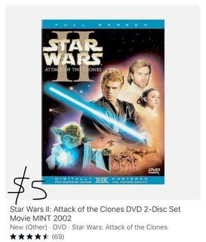 Star Wars II Attack of the Clones 2 DVD set for Sale in Cary, NC