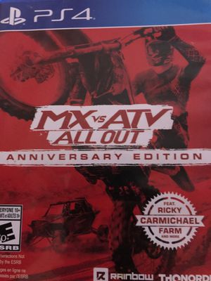 Ps4 mx vs atv all out for Sale in Goodyear, AZ