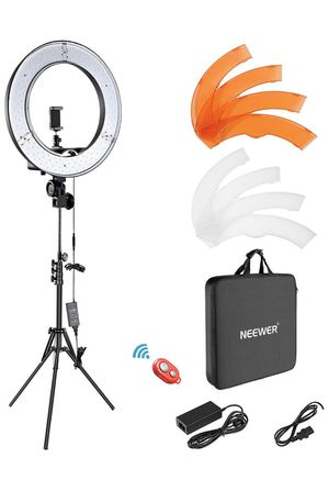 "Neewer Ring Light Kit:18""/48cm Outer 55W 5500K Dimmable LED Ring Light, Light Stand, Carrying Bag for Camera,Smartphone,YouTube,Self-Portrait Shooting for Sale in Norwalk, CA"