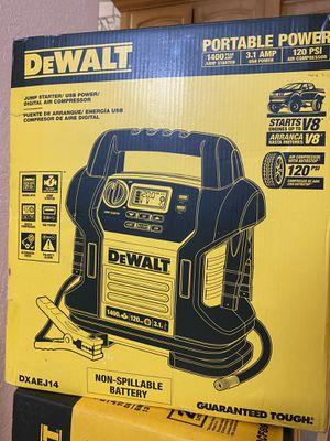Dewalt Jump Starter/USB Power / Digital Air Compressor for Sale in Azusa, CA