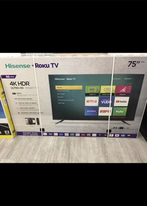 75 INCH HISENSE 4K ROKU SMART TV 📺 for Sale in Chino, CA
