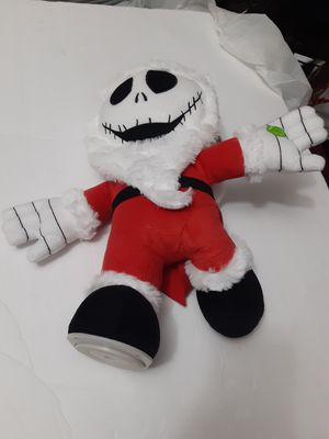 Nightmare Before Christmas Jack skeleton musical animated santa plush New spins for Sale in Miami, FL