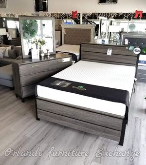 $499!!! SALE❗ WE DELIVER! BRAND NEW GREY QUEEN BED FRAME DRESSER AND MIRROR!!!.. for Sale in Oviedo, FL