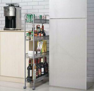 Rolling 4 Layer Shelf Slim Can Spice Rack Holder Cart Kitchen Storage Cabinet for Sale in Sanford, NC