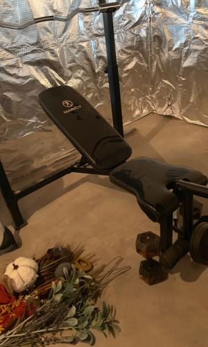 Marcy Weight bench and around 450 lbs of weights for Sale in Sycamore, IL