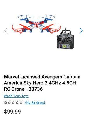 Marvel Licensed Avengers Captain America Sky Hero 2.4GHz 4.5CH RC Drone - 33736 for Sale in Grand Prairie, TX