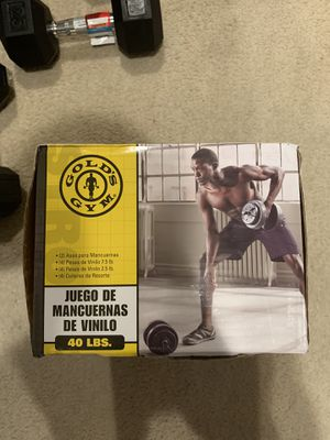 Gold's Gym Vinyl Dumbbell Set, 40 lbs for Sale in Gaithersburg, MD