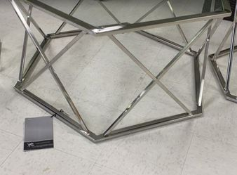 3 PCS metal glass Coffee table set☕🍿🍩 for Sale in Houston,  TX