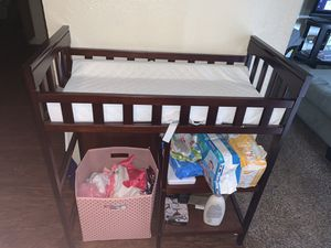 Changing table and bouncer for Sale in Irving, TX