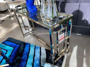 "New modern chrome glass console table 47""W for Sale in Boca Raton, FL"
