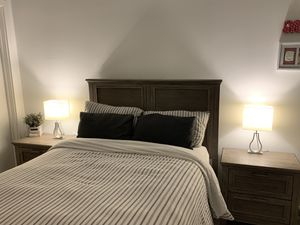 Bed set - bed + tables (used 5 times) for Sale in Miami, FL