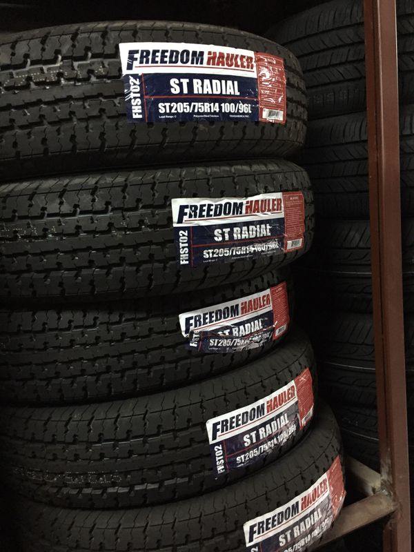 St205/75/14 trailer tires