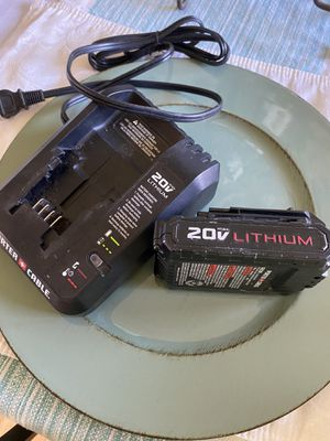 Porter Cable Charger & battery 20V lithium for Sale in Grandview, WA