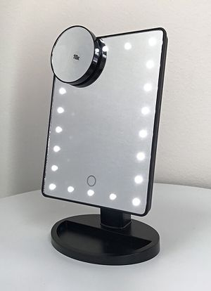"""New in box $15 each 11x6.5"""" LED Vanity Makeup Mirorr Touch Screen Dimming w/ 10x Magnifying (Black or White) for Sale in Downey, CA"""