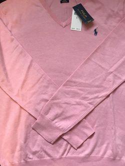 Ralph Lauren Polo Pima V Neck Men's Sweater Pink Size L for Sale in Dallas,  TX