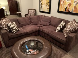 Room & Board Sectional Sofa - Chocolate for Sale in Denver, CO