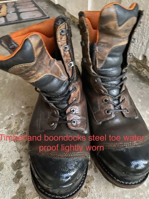 Barely worn Timberland Boondocks steel toe size 13 wide for Sale in Carson, CA