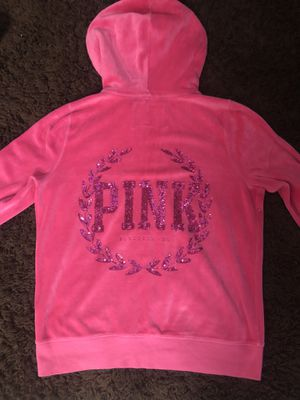 Woman's Pink Victoria's Secret hoodie sweater size Large for Sale in Fontana, CA