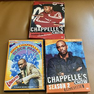 Dave Chappelle's Season 1,2 and Block Party DVD for Sale in Tampa, FL