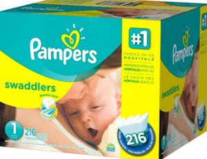 Pampers swaddlers/size 1, 216 count for Sale in East Los Angeles, CA